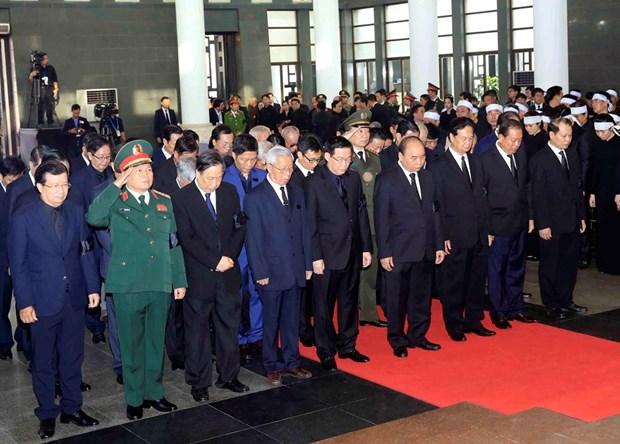 越南国家主席陈大光吊唁仪式隆重举行 hinh anh 2