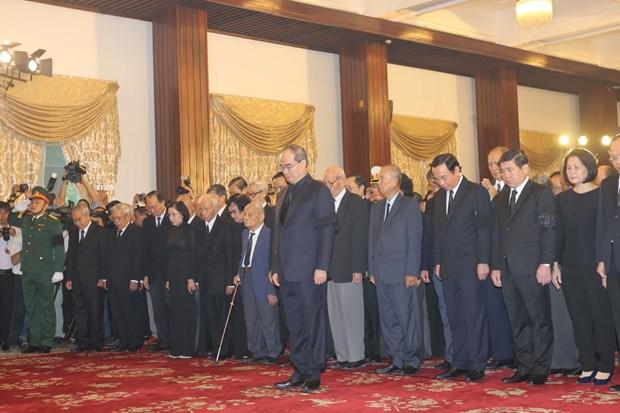 胡志明市和宁平省为国家主席陈大光举行吊唁仪式 hinh anh 1