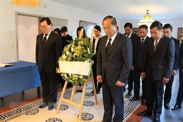 多国驻瑞士大使和国际组织代表前来吊唁陈大光同志 hinh anh 1