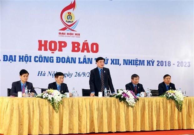 越南工会第十二届全国代表大会圆满闭幕 hinh anh 2