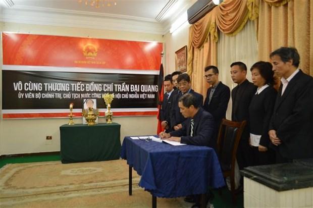 陈大光主席吊唁仪式在马来西亚、中国香港等国家和地区举行 hinh anh 2