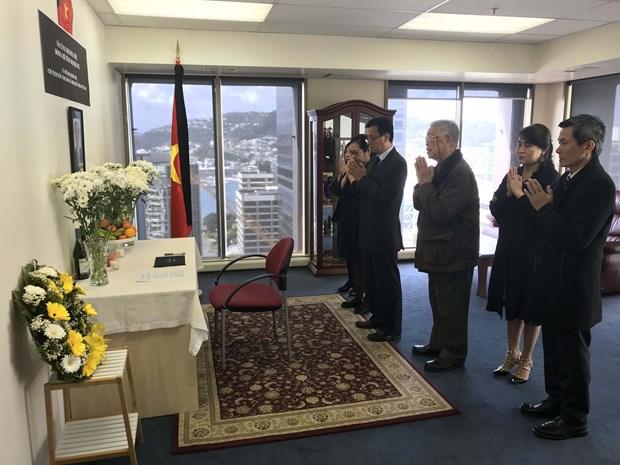 越南驻印度、新西兰、以色列大使馆举行仪式送别陈大光主席 hinh anh 1