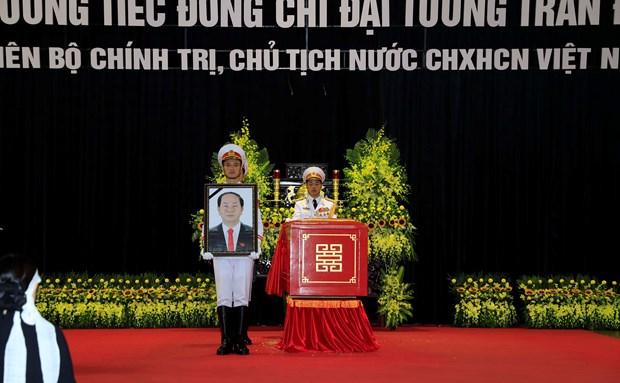 陈大光主席追悼会隆重举行 hinh anh 1