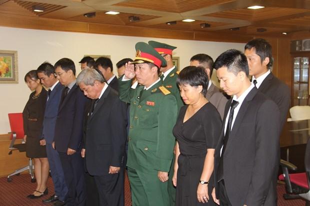 越南驻印度、新西兰、以色列大使馆举行仪式送别陈大光主席 hinh anh 2