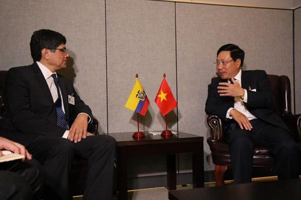第73届联大:越南政府副总理兼外长范平明与各国领导举行双边会晤 hinh anh 2