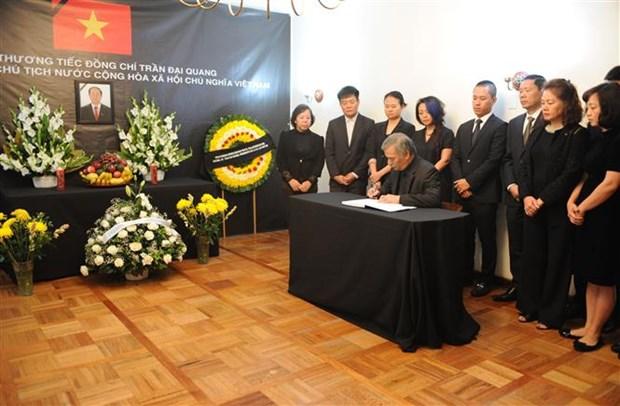 陈大光主席吊唁仪式在马来西亚、中国香港等国家和地区举行 hinh anh 1
