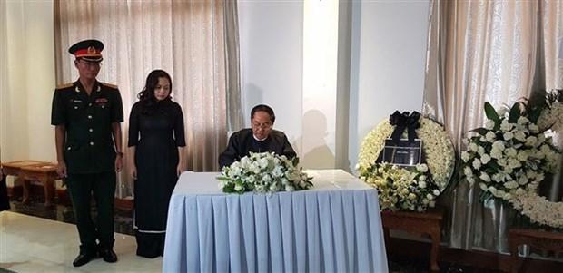 越南驻缅甸和韩国大使馆为陈大光主席举行吊唁仪式 hinh anh 1