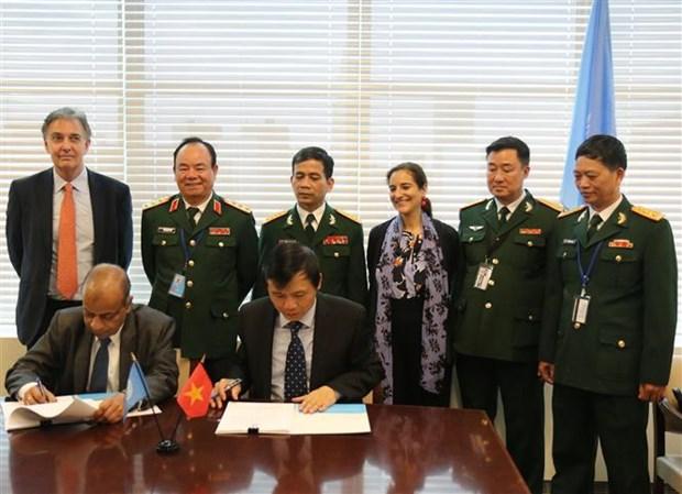 越南与联合国签署关于派遣驻南苏丹野战医院的备忘录 hinh anh 1
