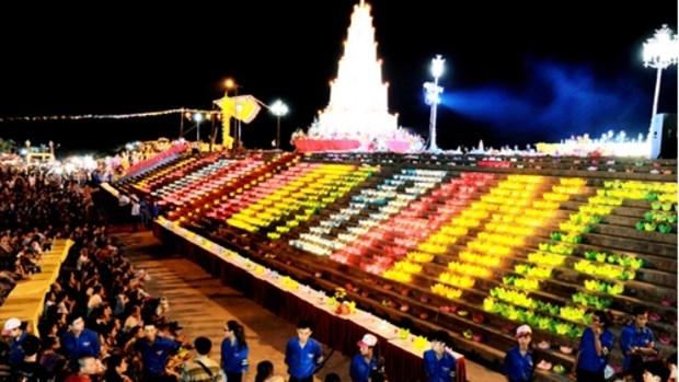 2018年崑山-劫泊秋季庙会祈安法会和放花灯活动在六头江上举行 hinh anh 1
