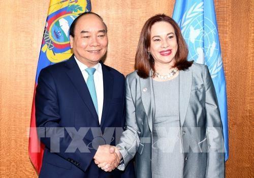 越南政府总理阮春福会见第73届联合国大会主席和联合国秘书长 hinh anh 1
