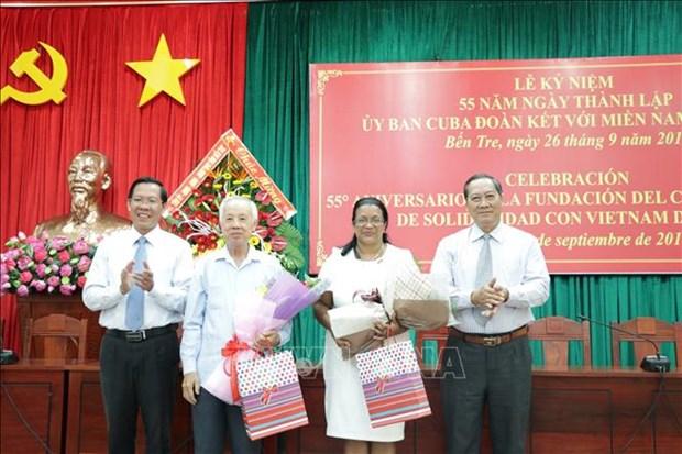 古巴与越南南部团结委员会成立55周年纪念活动在槟椥省举行 hinh anh 1
