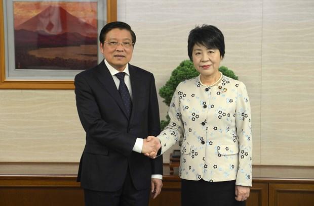 越共中央内政部长潘廷镯访问日本 hinh anh 1
