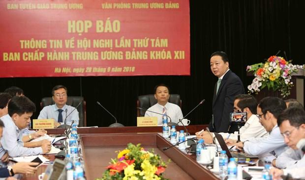 越共十二届中央委员会第八次全体会议将于10月2日开幕 hinh anh 1