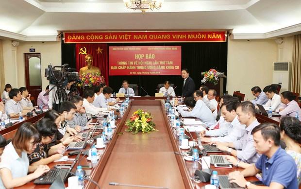 越共十二届中央委员会第八次全体会议将于10月2日开幕 hinh anh 2