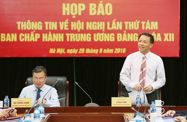 越共十二届中央委员会第八次全体会议将于10月2日开幕 hinh anh 3