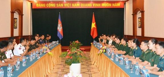 越柬两国促进青年军官交流合作 hinh anh 1