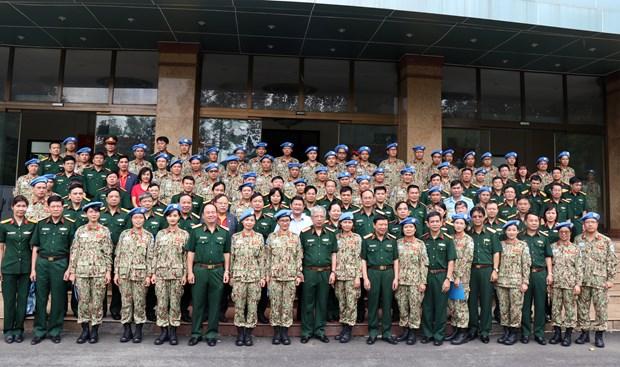 越南维和力量接受参与联合国南苏丹特派团维和行动的任务 hinh anh 1