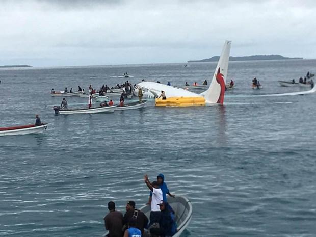 为新几内亚航空客机坠海事件中四名越南公民开展领事保护 hinh anh 1