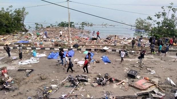 印尼地震海啸灾难中至少有832人死亡 hinh anh 1