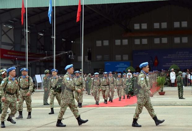 越南维和部队出征 赶赴南苏丹执行任务 hinh anh 2