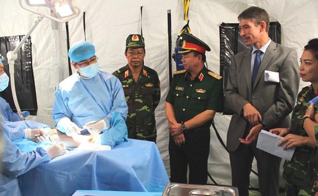 越南赴南苏丹二级野战医院的维和人员严阵以待 hinh anh 2