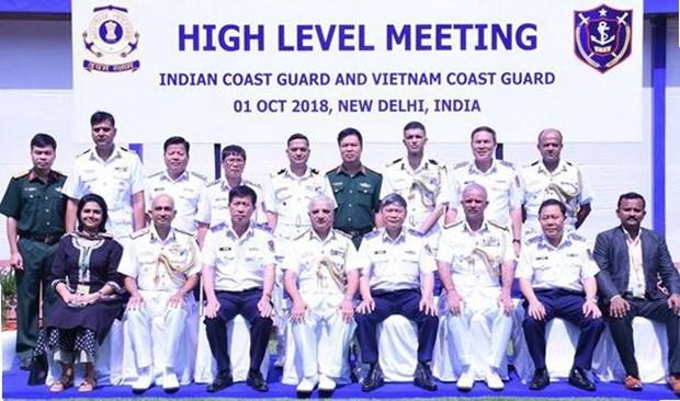 越南海警船首访印度 hinh anh 1
