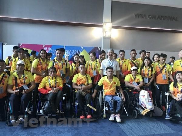 2018年第三届亚残会: 越南体育代表团已抵达印尼雅加达 hinh anh 1