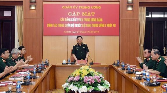 越共十二届中央委员会第八次全体会议是党和国家的重要政治活动 hinh anh 1