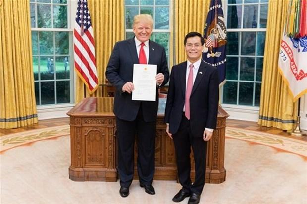 越南驻美国大使: 美国承诺尊重越南政治体制和发展道路 hinh anh 1