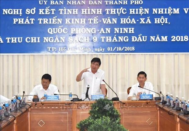 胡志明市领导:有信心完成2018年财政收入任务 hinh anh 1