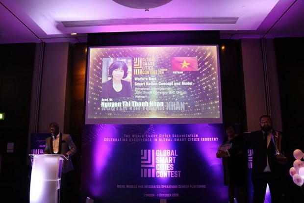 越南AIC集团荣获智慧城市全球大赛优异奖 hinh anh 1