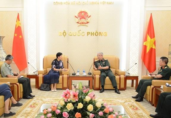 越南与中国进一步加强防务合作 hinh anh 1