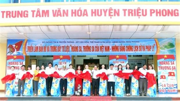 """""""黄沙、长沙归属越南—历史证据和法律依据""""展览会在广治省举行 hinh anh 1"""