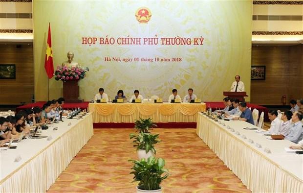 越南政府9月份例行新闻发布会解答社会舆论关心的许多问题 hinh anh 1