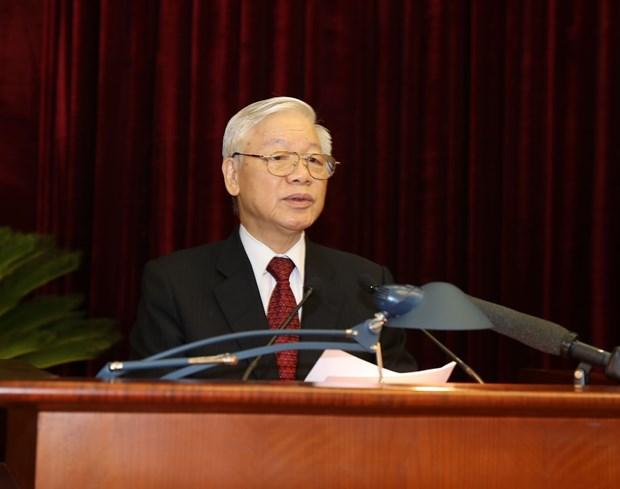 越南共产党第十二届中央委员会第八次全体会议在河内隆重开幕 hinh anh 3