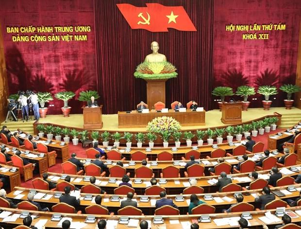 越南共产党第十二届中央委员会第八次全体会议在河内隆重开幕 hinh anh 2