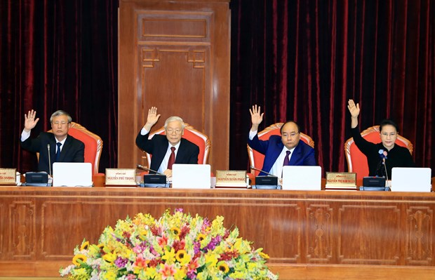 越南共产党第十二届中央委员会第八次全体会议在河内隆重开幕 hinh anh 1