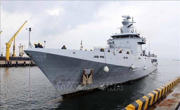 文莱海军舰艇访问岘港市 hinh anh 1