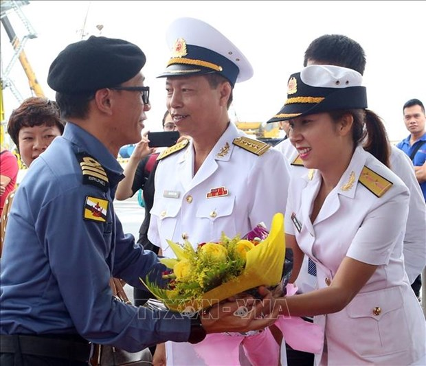文莱海军舰艇访问岘港市 hinh anh 2