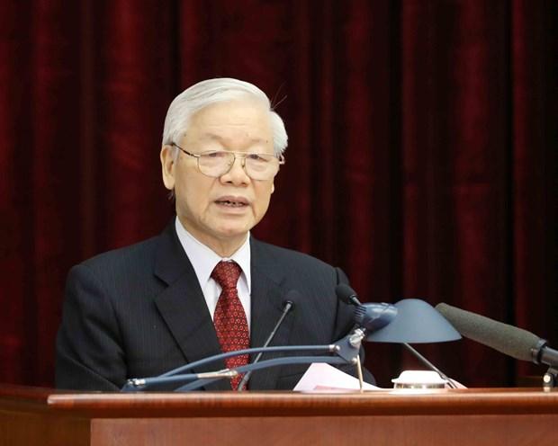 越南共产党第十二届中央委员会第八次全体会议:大力推动经济社会发展 加强党建工作 hinh anh 1