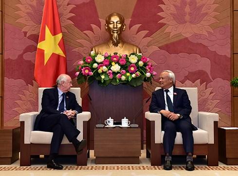 越南国会副主席汪周刘会见英国议会IPU议员小组 hinh anh 1