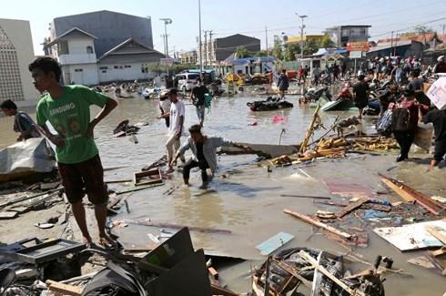印尼地震和海啸:争分夺秒与时间赛跑 竭尽全力为生命护航 hinh anh 1