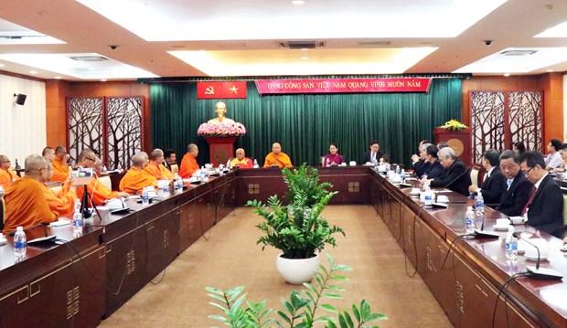 胡志明市领导会见泰国僧伽委员会代表团一行 hinh anh 1