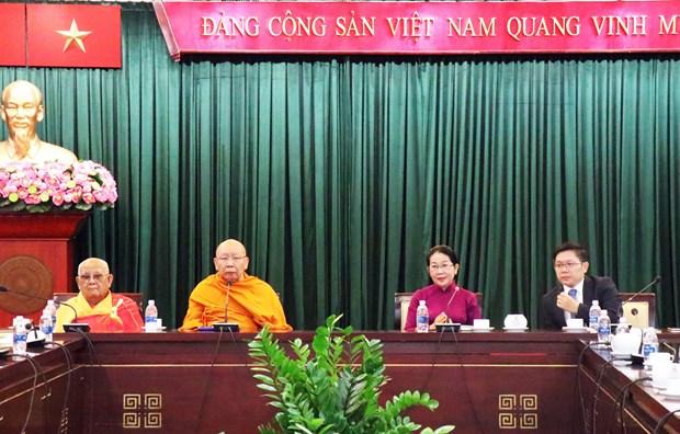 胡志明市领导会见泰国僧伽委员会代表团一行 hinh anh 2