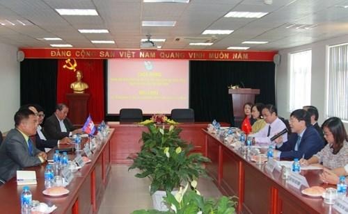 越南新闻工作者协会和柬埔寨记者协会加强交流 寻求合作机遇 hinh anh 1