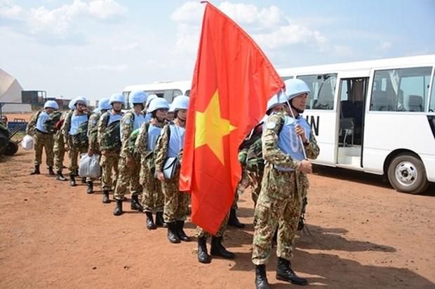越南一号二级野战医院抵达南苏丹执行任务 hinh anh 1
