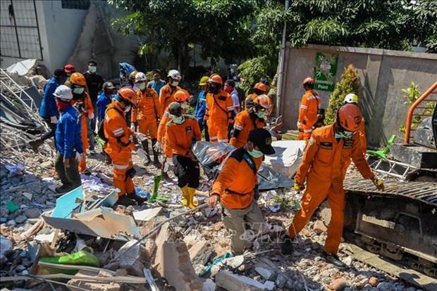 印尼地震和海啸:印尼总统佐科·维多多再赴灾区视察 hinh anh 1