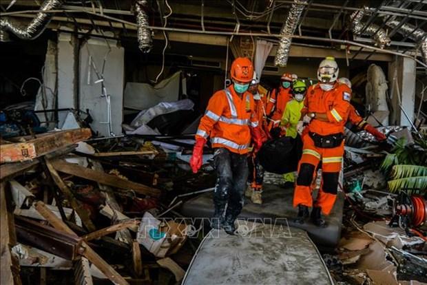 印尼地震和海啸:印尼总统佐科·维多多再赴灾区视察 hinh anh 3