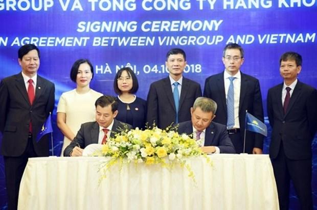 "Vietnam Airlines与Vingroup签署合作协议 加快""航旅融合""步伐 hinh anh 1"