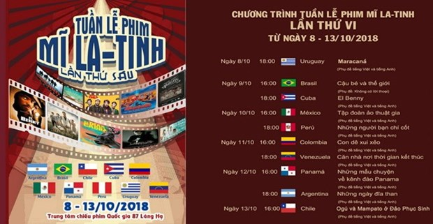 第六届越南拉丁美洲电影周即将在河内举行 hinh anh 1